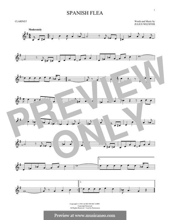 Spanish Flea (Herb Alpert & The Tijuana Brass Band): For clarinet by Julius Wechter