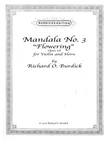 Mandala No.3 for horn and violin, Op.58: Mandala No.3 for horn and violin by Richard Burdick