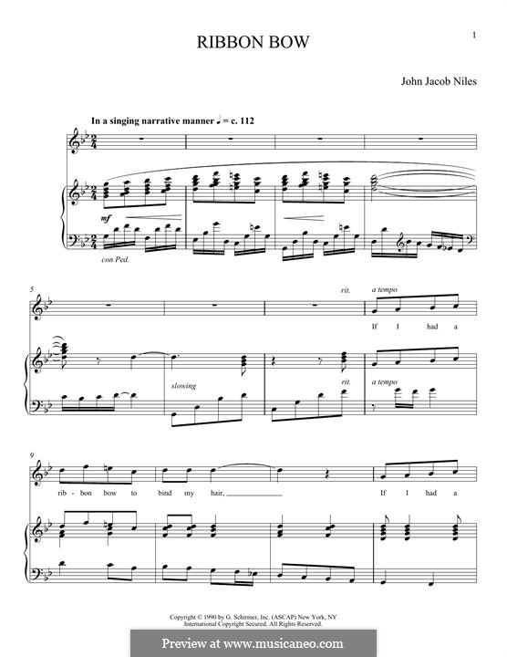 Ribbon Bow: For voice and piano by Joan Frey Boytim