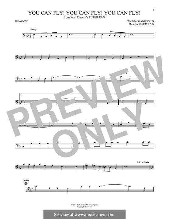 You Can Fly! You Can Fly! You Can Fly!: For trombone by Sammy Fain