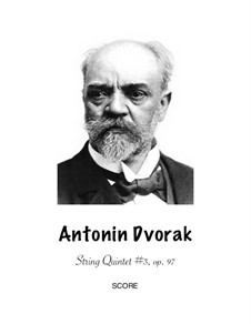 String Quintet No.3 in E Flat Major 'American', B.180 Op.97: Version for wind – parts by Antonín Dvořák