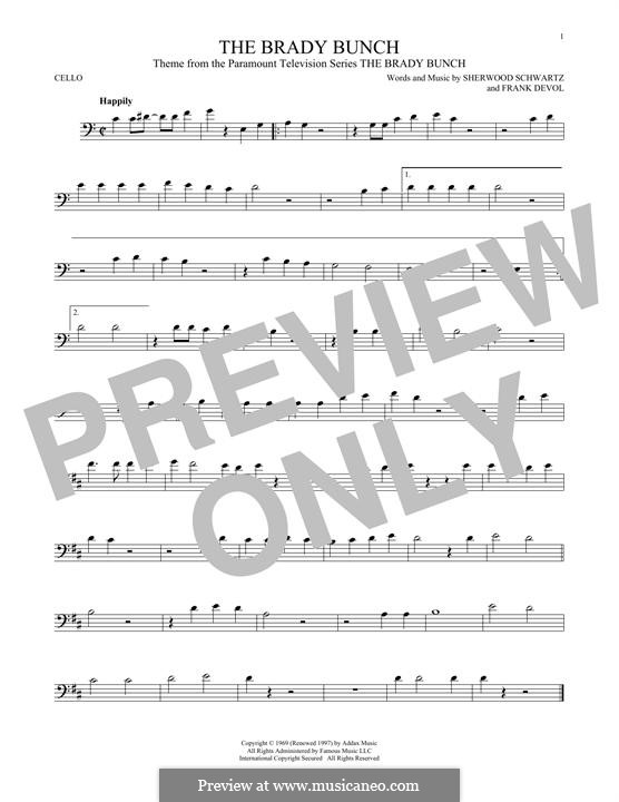 The Brady Bunch: For cello by Frank Devol
