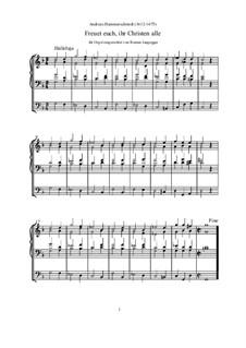 Freuet euch, ihr Christen (Orgel-Transkription): Freuet euch, ihr Christen (Orgel-Transkription) by Andreas Hammerschmidt