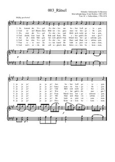 Rätsel für Stimme und Klavier: Rätsel für Stimme und Klavier by Ernst Richter