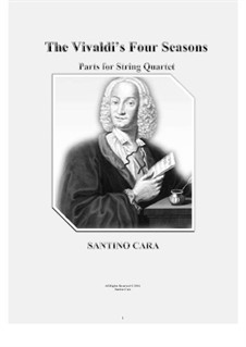Le quattro stagioni (The Four Seasons): For string quartet – complete parts by Antonio Vivaldi