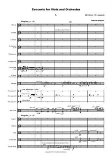 Concerto for Viola and Orchestra, MMO14: Concerto for Viola and Orchestra by Malcolm Dedman