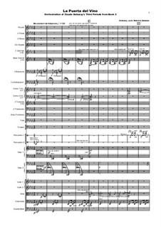 Preludes, L.123: No.3 La puerta del Vino, for orchestra, MMO5 by Claude Debussy