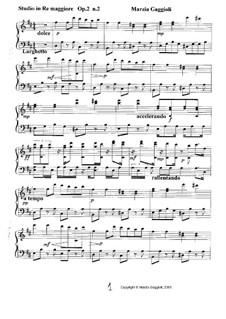 Studios, Op.2: Studio No.2 in Re Maggiore by Marzia Gaggioli