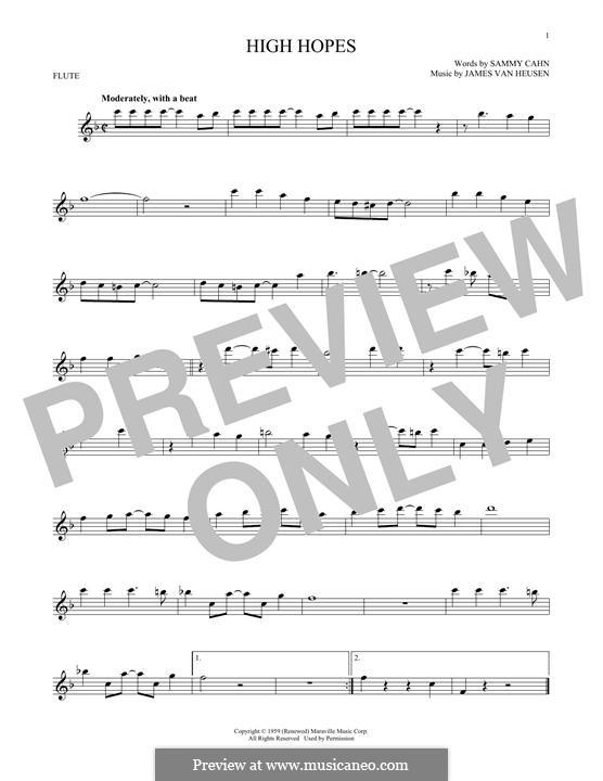 High Hopes Frank Sinatra By Jv Heusen Sheet Music On Musicaneo
