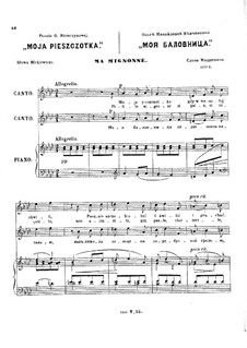 Six Romances, Op.11: No.2 Moja pieszczotka by César Cui
