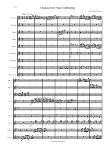 Chinese New Year Celebration: For flute choir by David W Solomons