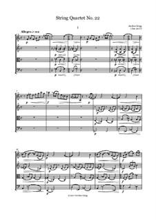 String Quartet No.22: String Quartet No.22 by Jordan Grigg