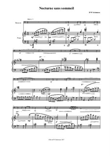 Nocturne sans sommeil (Sleepless nocturne): For bassoon and piano by David W Solomons