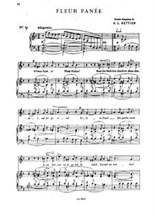 Seven Romances and Duets, Op.19: No.3 Fleur fanée by César Cui