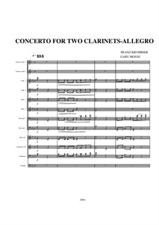 Concerto for Two Clarinets and Orchestra in E Flat Major, Op.35: Movement I by Franz Krommer