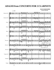 Concerto for Two Clarinets and Orchestra in E Flat Major, Op.35: Adagio by Franz Krommer