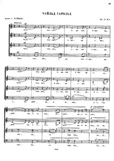 Seven Choirs, Op.28: No.7 by César Cui