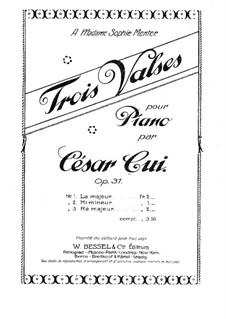 Three Waltzes, Op.31: Complete set by César Cui