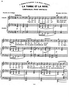 Sept Melodies, Op.32: No.3 La tombe et la rose by César Cui