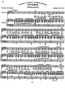 Sept Melodies, Op.32: No.5 Attente by César Cui