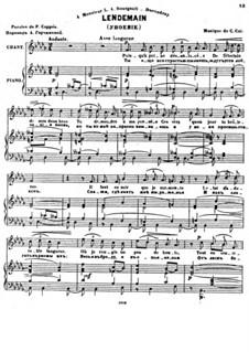 Sept Melodies, Op.32: No.6 Lendemain by César Cui