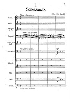 Two Pieces for Cello and Piano, Op.36: Full score by César Cui