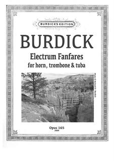 Electrum Fanfares  for horn, trombone and tuba, Op.165: Electrum Fanfares  for horn, trombone and tuba by Richard Burdick