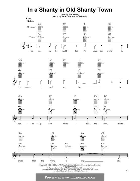 In a Shanty in an Old Shanty Town: For banjo by Jack Little, John Siras