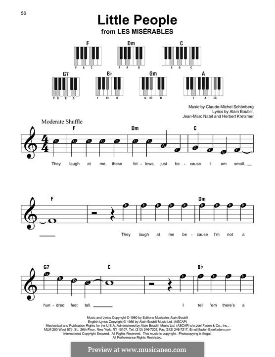 Little People: For any instrument by Claude-Michel Schönberg