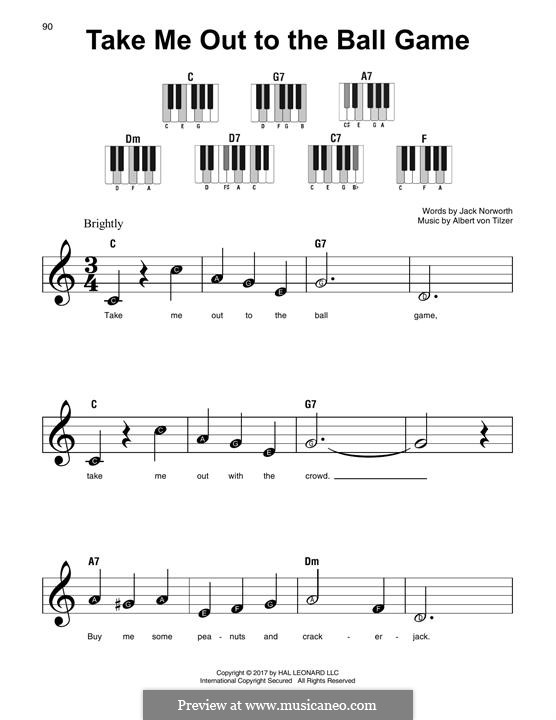 Take Me Out to the Ball Game: For any instrument by Albert von Tilzer