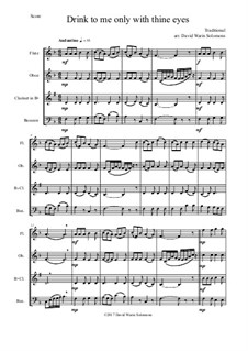 Drink to Me Only with Thine Eyes: For wind quartet by folklore