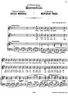 Four Sonnets, Op.48: No.1 Cisza morska by César Cui
