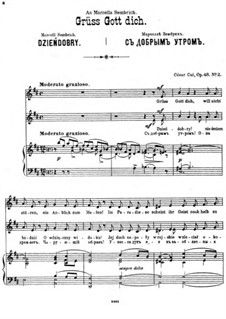 Four Sonnets, Op.48: No.2 Dzieńdobry by César Cui