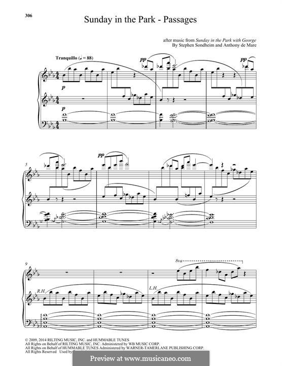 Sunday in the Park - Passages: For piano by Stephen Sondheim