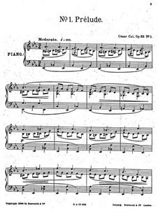 Five Pieces, Op.52: No.1 Prelude by César Cui