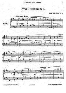 Five Pieces, Op.52: No.3 Intermezzo by César Cui