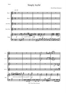 Simply joyful: For flute quartet and piano by David W Solomons