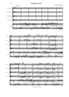 Simply joyful: For clarinet quartet and piano by David W Solomons