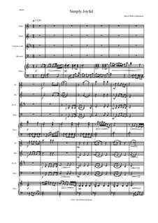 Simply joyful: For wind quartet and piano by David W Solomons
