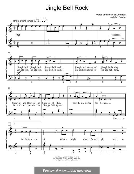 jingle bell rock piano pdf