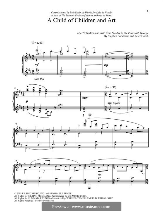 A Child of Children and Art: For piano by Stephen Sondheim