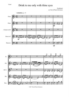 Drink to Me Only with Thine Eyes: For wind quintet by folklore