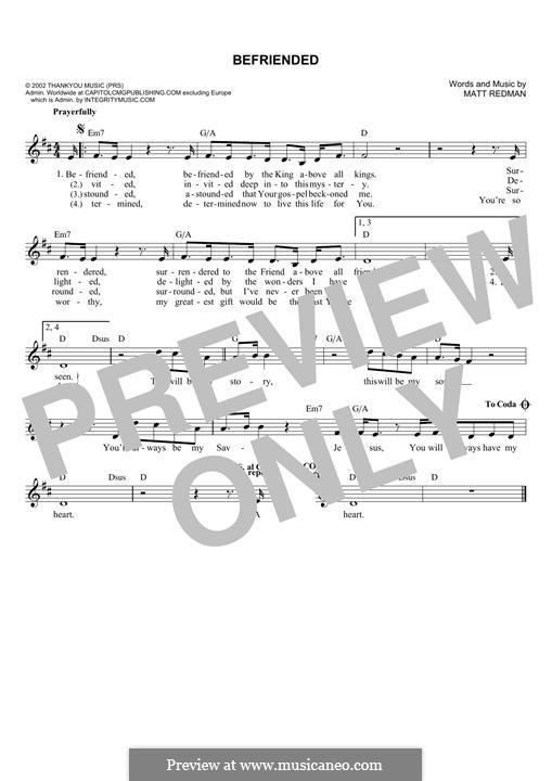 Befriended: Melody line by Matt Redman