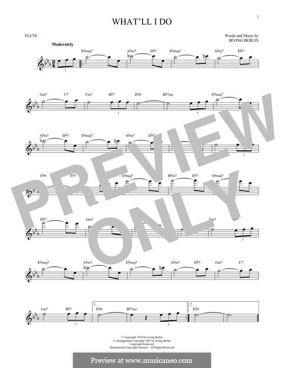 What'll I Do?: For flute by Irving Berlin