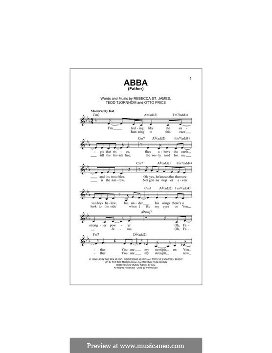 Abba (Father): Melody line by Tedd Tjornhom, Otto Price