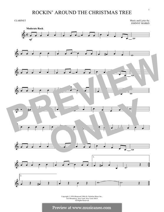 Rockin Around The Christmas Tree Piano Letters.Rockin Around The Christmas Tree Notes For Clarinet Brenda