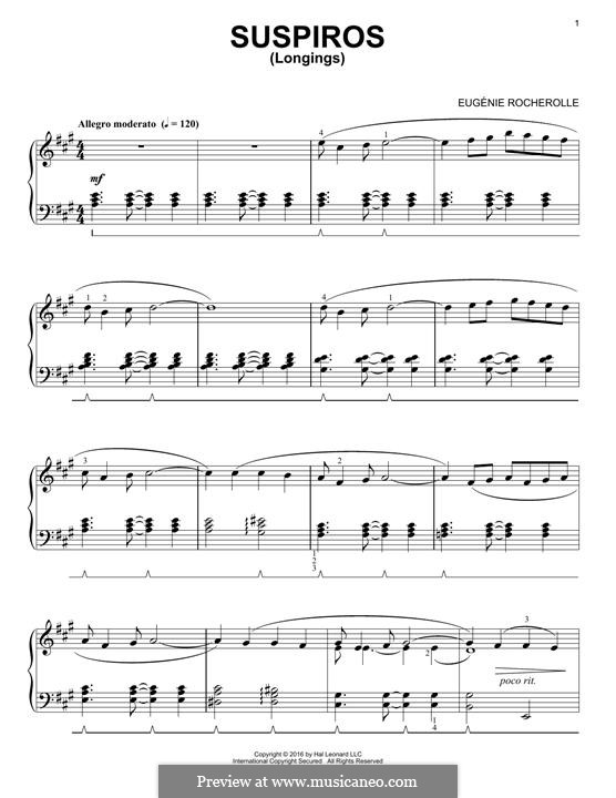 Suspiros: For piano by Eugénie Rocherolle