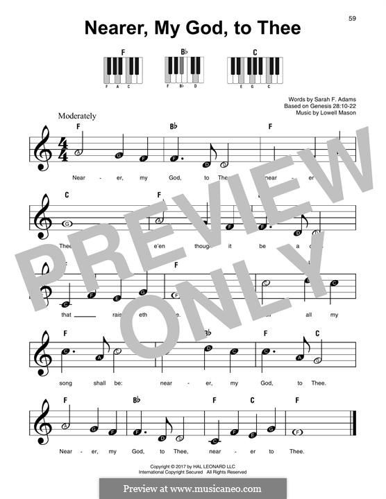 Nearer, My God, To Thee (Printable scores): For any instrument by Lowell Mason