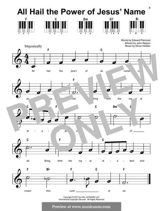 All Hail the Power of Jesus' Name: For any instrument by Oliver Holden
