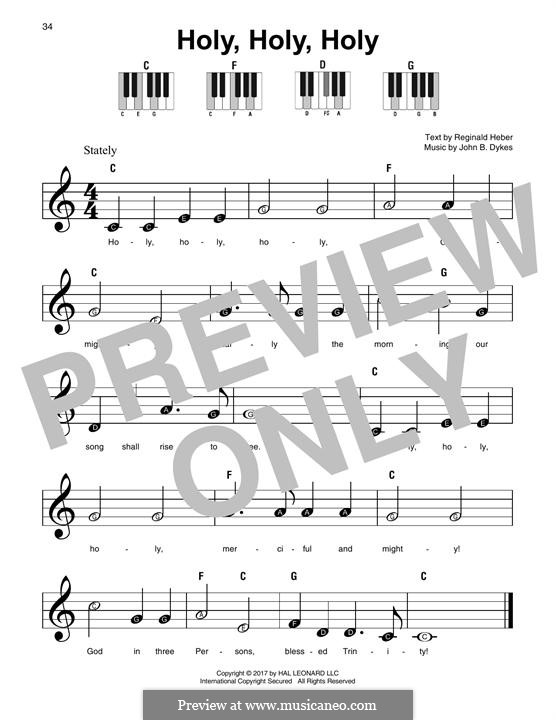Holy, Holy, Holy! Lord God Almighty: For any instrument by John Bacchus Dykes